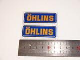 Наклейки для амортизатора Ohlins пара 6см оранжево-синие