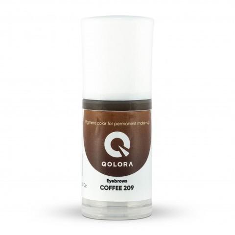 QOLORA COFFEE 209 (КОФЕ) пигмент для татуажа бровей