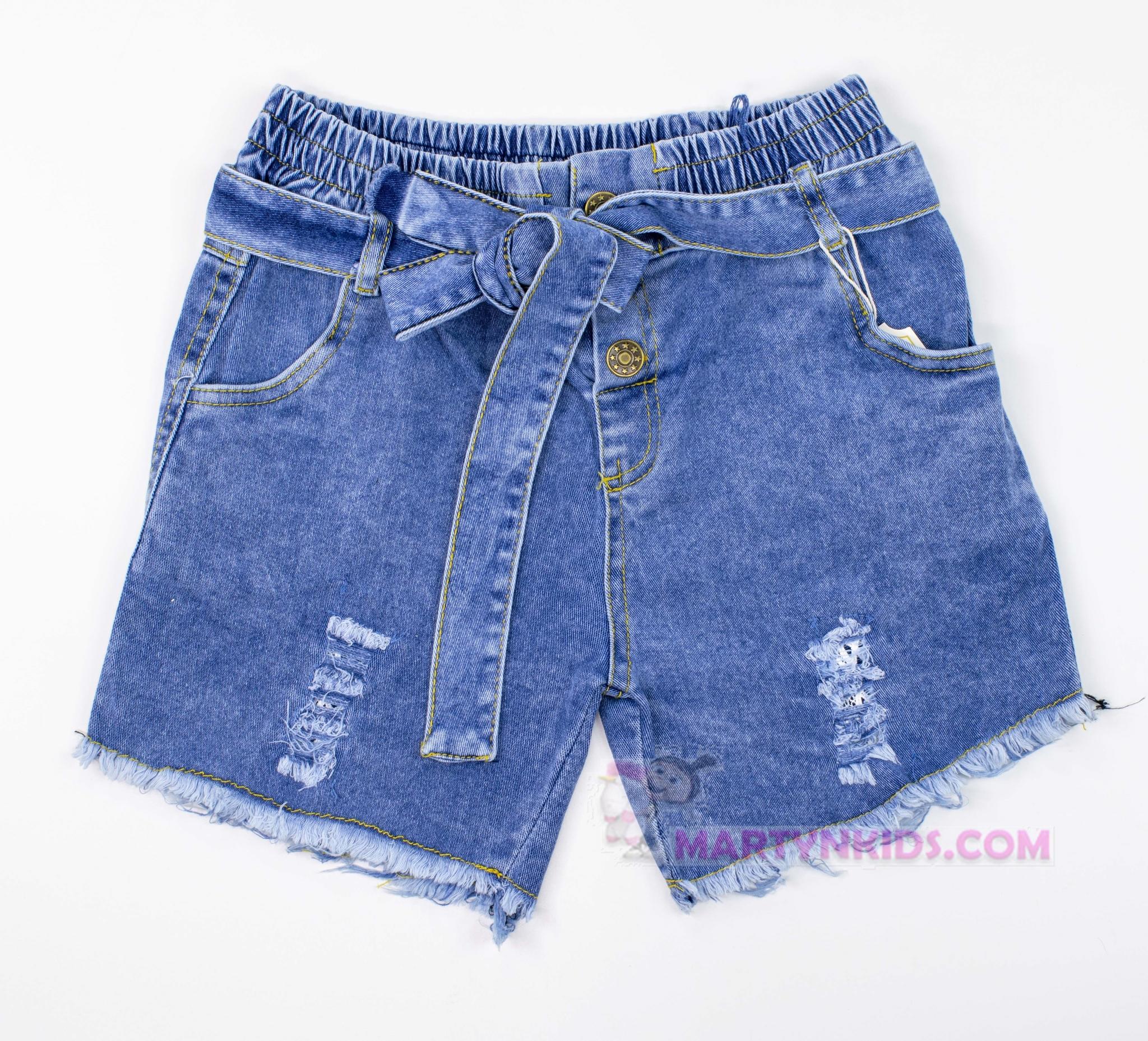 3463 шорты джинс пояс