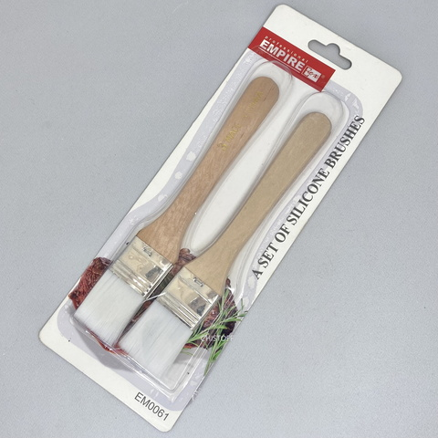 Кисточки кондитерские с деревянной ручкой 180 мм (набор 2 шт.)