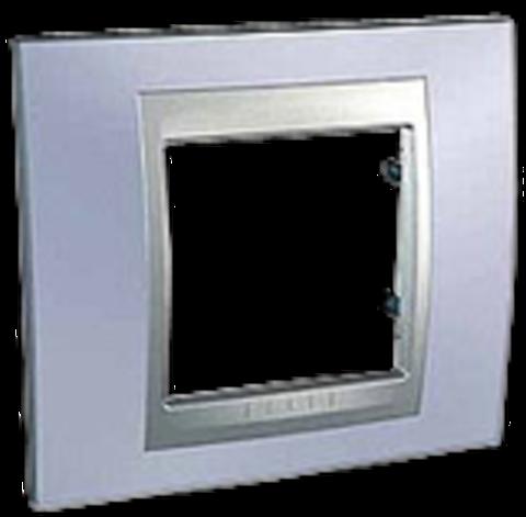 Рамка на 1 пост. Цвет Берилл-алюминий. Schneider electric Unica Top. MGU66.002.098
