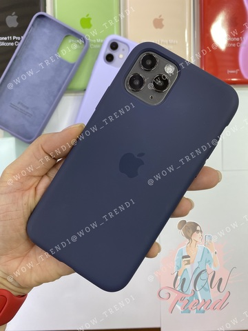 Чехол iPhone 11 Pro Max Silicone Case /midnight blue/ темно-синий original quality