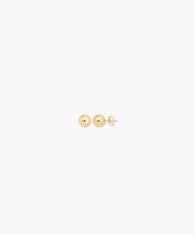 Серьги-гвоздики Ball gold 4 mm