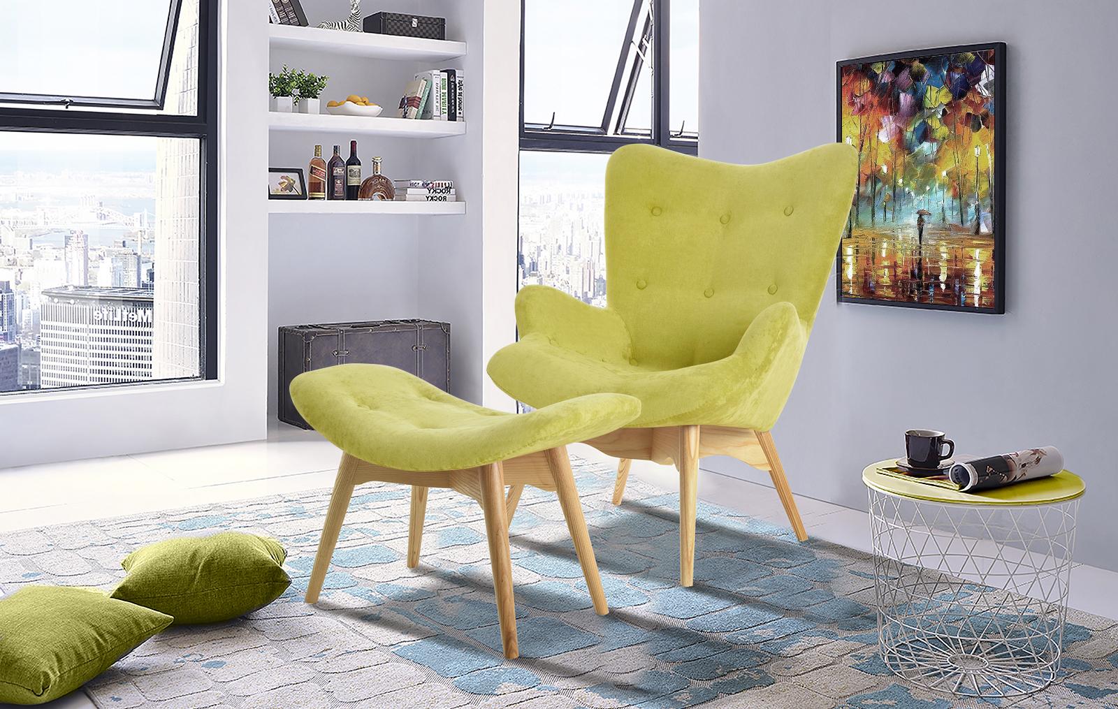 Кресло DC917 оливковый 2214-12 + банкетка DC917F оливковый