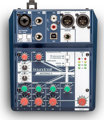 SOUNDCRAFT Notepad-5 компактный микшерный пульт