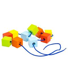 Шнуровка Кубики цветные ШН33