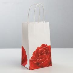 Пакет подарочный крафт «С Любовью», 12 × 21 × 9 см, 1 шт.