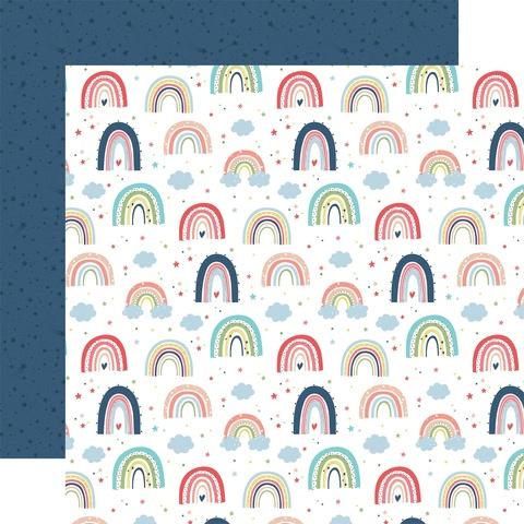 Лист двухсторонней бумаги Echo Park paper co - LITTLE DREAMER GIRL - 30x30