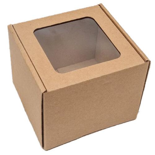 Коробка с окошком 150х150х80