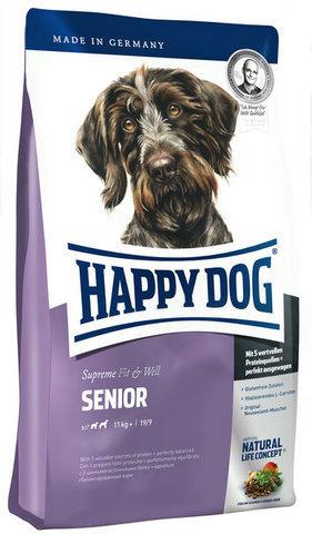 купить Happy Dog Supreme Fit&Well Senior сухой корм для стареющих собак весом от 11 кг