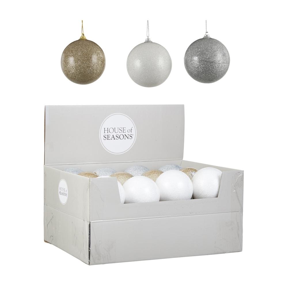 Елочные игрушки Набор шаров 24шт 8см House of Seasons шампань/белый/серебро 3 вида в ассортименте fuflf68xv92dx0g0us03pkotogugrglf.JPEG