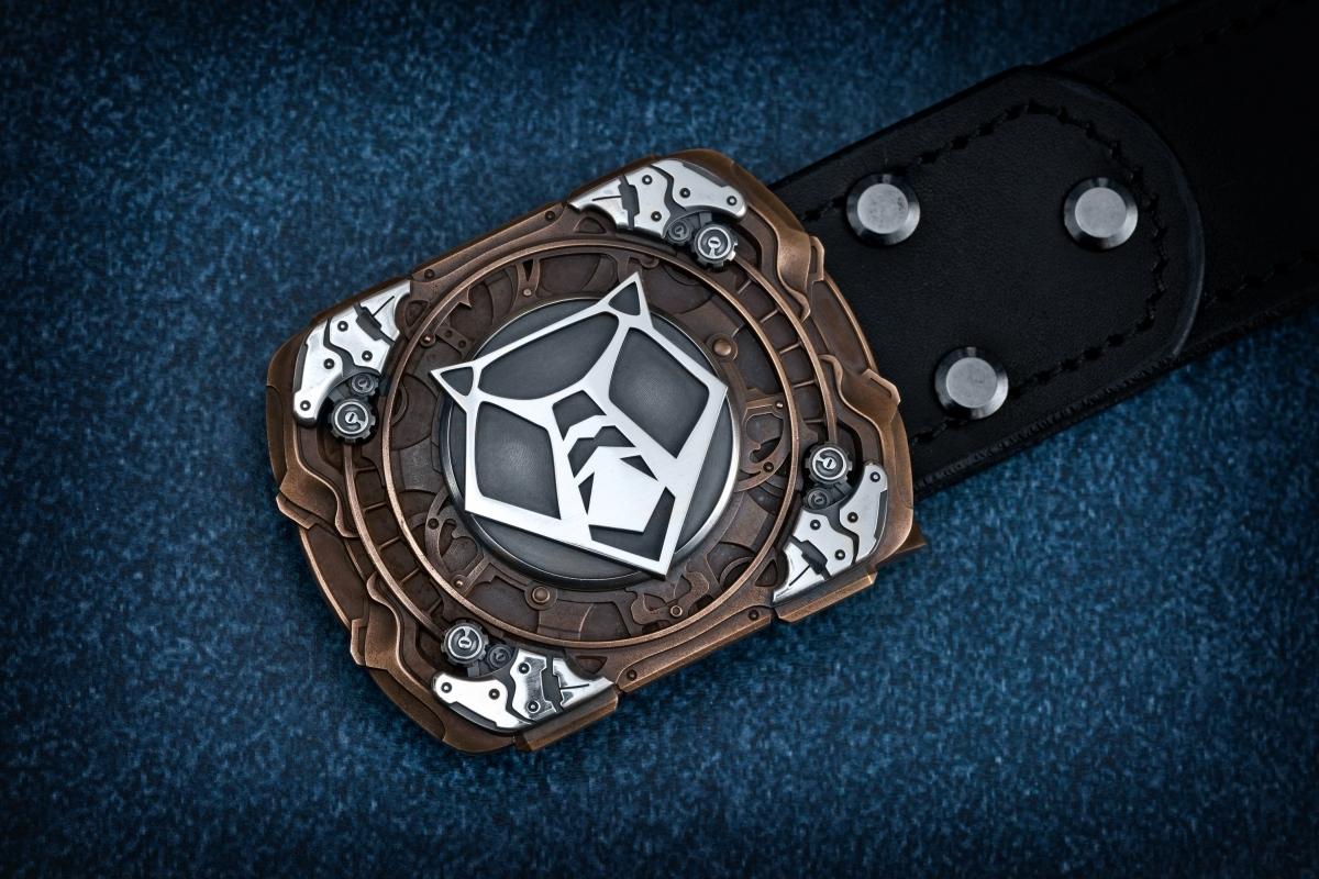 CUSTOM Belt with cast buckle Shiro limited - фотография