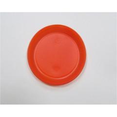 Тарелка одноразовая d 210мм, красн., ПС 12шт/уп