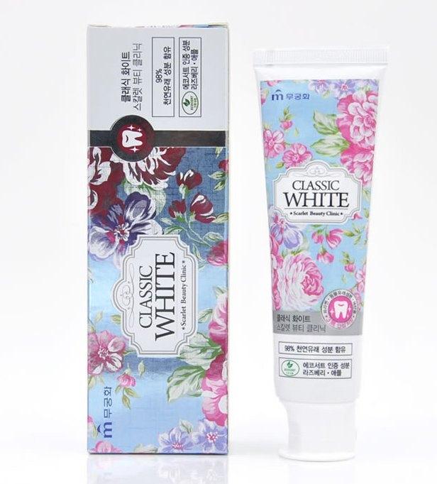 Зубная паста гелевая отбеливающая с ароматом ягод и мяты CLASSIC WHITE, 110 g