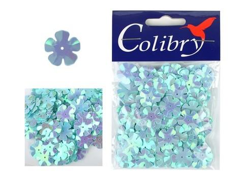 Пайетки фигурные голографические Colibry. Цветы 14*14 мм. Цвет 21