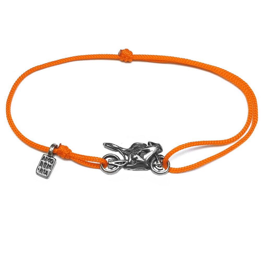Motorcycle bracelet, sterling silver