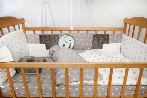 Комплект постельного белья Eco 3 Minky Серо-белый звез