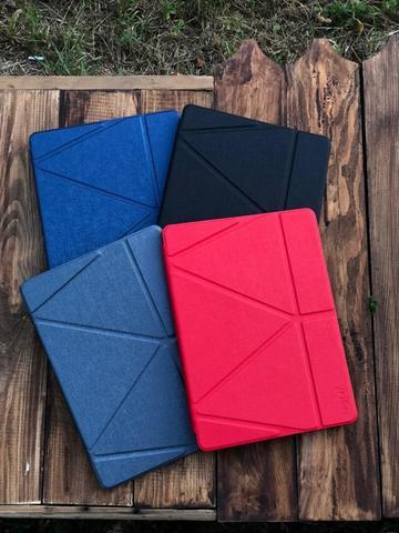 Чехол iPad 12,9 (2020) Origami Case Leather pencil groove /gray/
