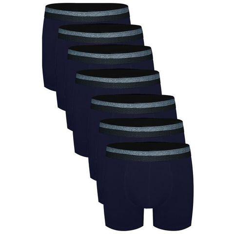 Трусы мужские боксеры набор 7в1 темно-синие DARKZONE DZN7777LCV
