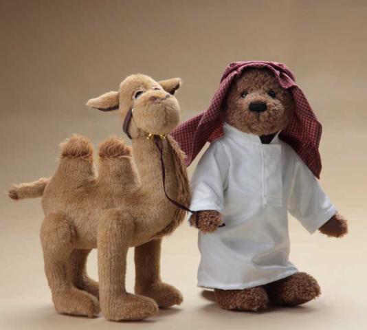 Игрушка плюшевый мишка с верблюдом