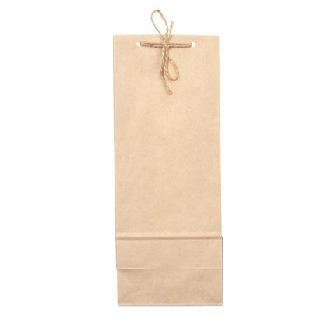 Подарочный пакет крафтовый, длинный 27 х 12 см