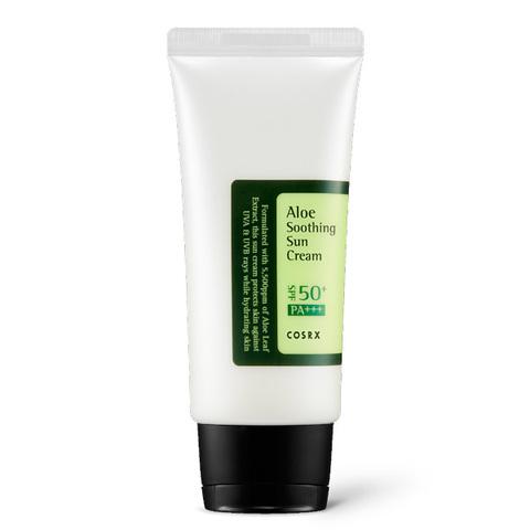 Cosrx Aloe Soothing Sun Cream SPF50+PA+++ Солнцезащитный крем с соком алоэ вера, 50мл