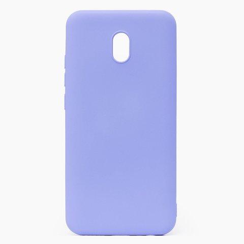 Чехол для Xiaomi Redmi 8A Софт тач мягкий эффект | микрофибра светло-фиолетовый