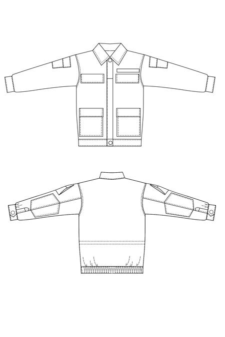 Выкройка костюма капрал куртка