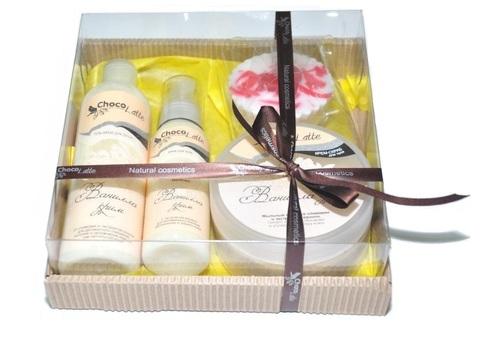 Набор подарочный №4 для тела и душа Ванилла-Крим (пенка, молочко, скрабби, м/ассорти)/TM ChocoLatte