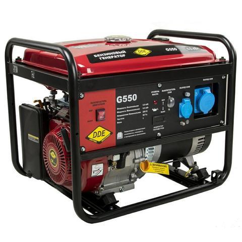 Генератор бензиновый DDE G550 (1ф 5,0/5,5 кВт бак 25 л 80 кг дв-ль 13 л.с.) (917-408)