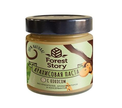 Паста арахисовая с кокосом / Forest Story / 180 г
