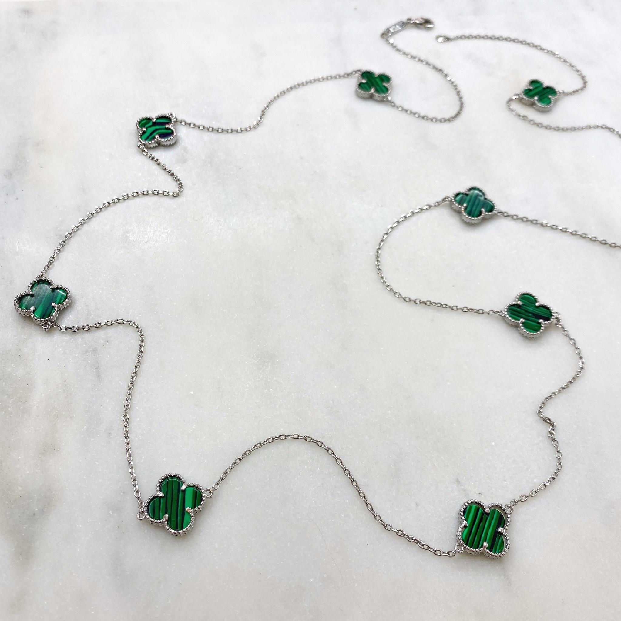 Сотуар Клевер (зеленый, серебристый)