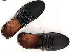 Легкие мокасины кеды женские кожаные casual стиль EVA collection 151 Black.
