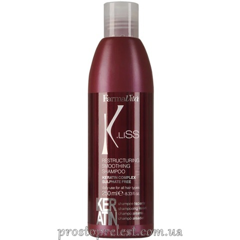 Farmavita K.Liss Restructuring Smoothing Shampoo - Шампунь з кератином після випрямлення волосся