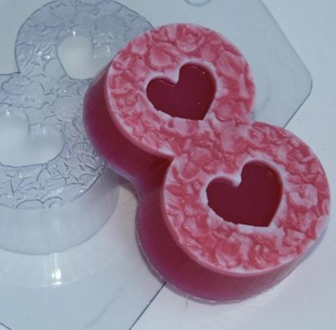 Пластиковая форма для шоколада жен.  ВОСЬМЕРКА С текстурой