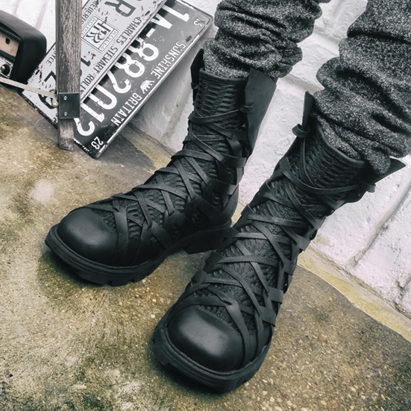Высокие ботинки на шнуровке «HIMIA»