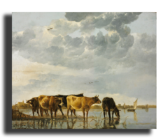 """Репродукция """" Альберт Кейп - Коровы на реке"""""""