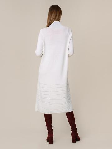 Женское платье молочного цвета из мохера и вискозы - фото 2