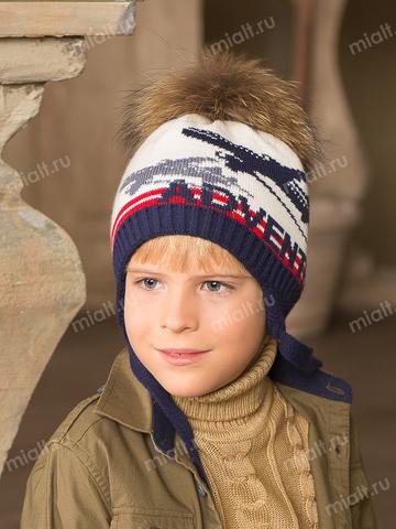 Зимняя шапка для мальчика Mialt Боинг