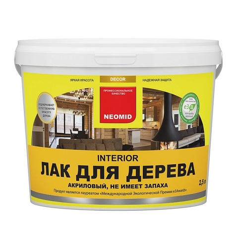 Neomid Interior лак для дерева