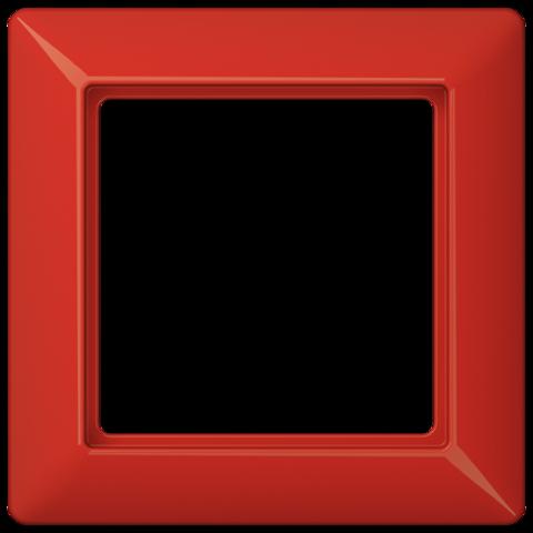 Рамка на 1 пост. Цвет Блестящий красный. JUNG AS. AS581BFRT