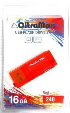 Флеш-накопитель USB 16GB OltraMax 240 красный