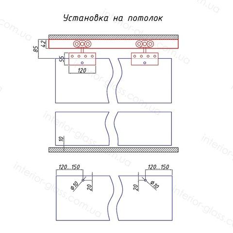 Раздвижная система SL-300 для стеклянных дверей