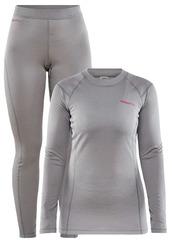Теплый Комплект термобелья Craft Core Warm Baselayer Set W Grey женский