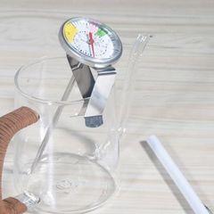 Аналоговый термометр Mojae оснащён клипсой для крепления