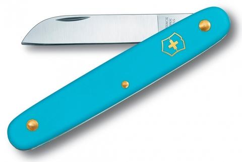 Складной нож садовый Victorinox 3.9050.25B1 Floral, голубой