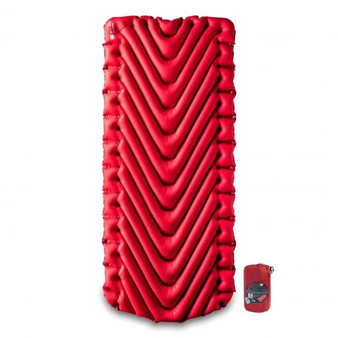 Надувной коврик Klymit Insulated Static V Luxe Red, красный