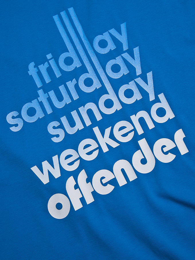 Футболка Weekend Offender Sixty Hours Cyan