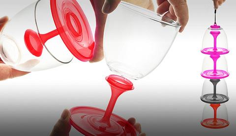 Набор складных бокалов Asobu Stack n' go vino (2 х 0,4 литра), красный