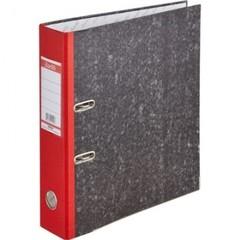 Папка с арочным механизмом Bantex 70 мм мрамор с красным корешком
